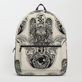 Hamsa Hand Elephant Backpack