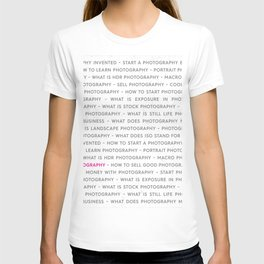 Strong Photography Keywords Marketing Concept T-shirt