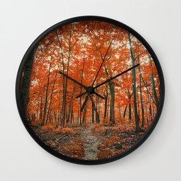 La Foresta Rossa Wall Clock