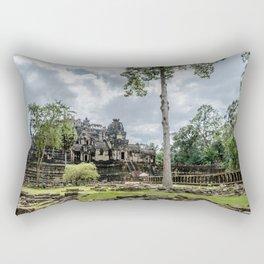 Bayon Temple at Angkor Thom, Siem Reap, Cambodia Rectangular Pillow