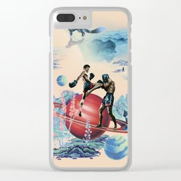 Muay Thai On Space Clear iPhone Case