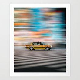 Tokyo Taxi Art Print