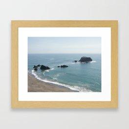 Goat Rock Beach Framed Art Print