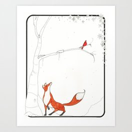 The snow Art Print