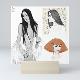 Cher/Pattern Mini Art Print