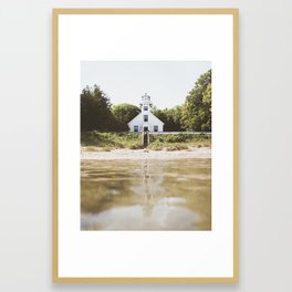 Old Mission Point Lighthouse | Michigan | John Hill Photography Framed Art Print
