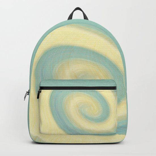Yellow, blue, abstraction Backpack