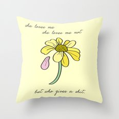 Don't care Throw Pillow