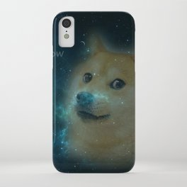shibe doge in space iPhone Case