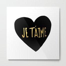 je t'aime x heart Metal Print