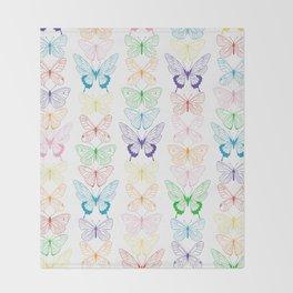 Butterfly Rainbow Throw Blanket