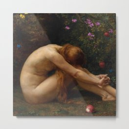 The Last Temptation of Eve by Anna Lea Merritt Metal Print