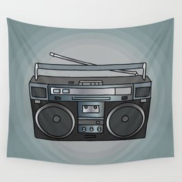 Boombox portable radio recorder Wall Tapestry