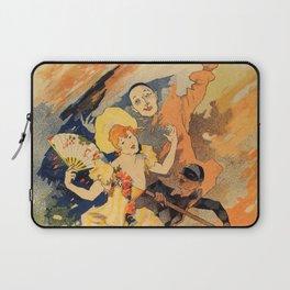 Pantomime comedy 1891 by Jules Chéret Laptop Sleeve