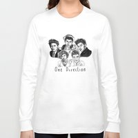 one direction Long Sleeve T-shirts featuring One Direction by Hollie B