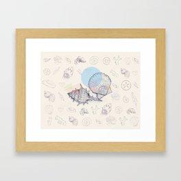 Seaside Cottage Beach Boi - Collab w Freezing Paint Framed Art Print