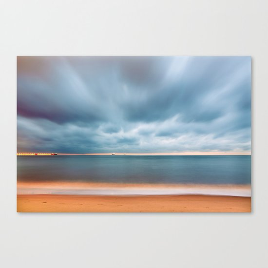 Sky Sea Light Canvas Print