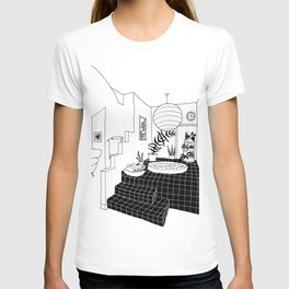 interior pool jacuzzi T-shirt