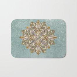Mandala Snowflake Bath Mat