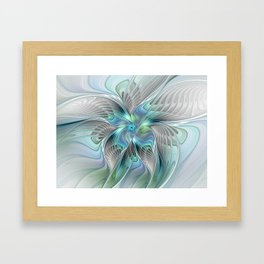 Abstract Butterfly, Fantasy Fractal Art Framed Art Print