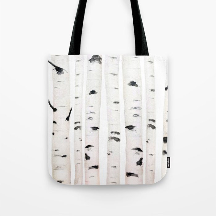 birch horizontal Tote Bag