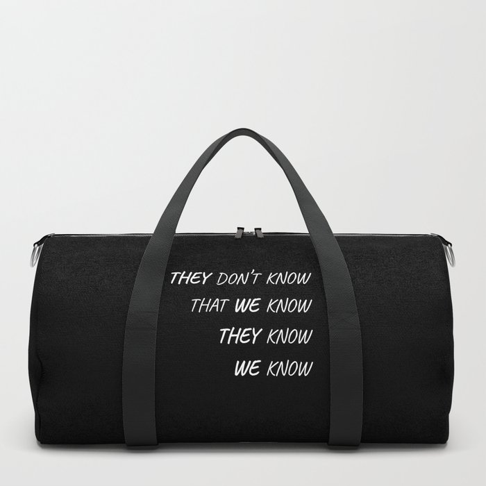 The One Where Everybody Knows Duffle Bag