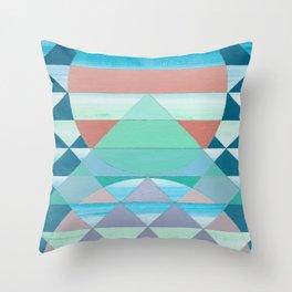 Pyramid Sun Orange Throw Pillow
