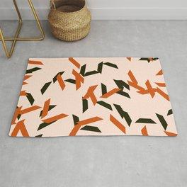 random trapezoids pattern_salmon Rug