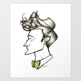 Bow Tie Guy Art Print