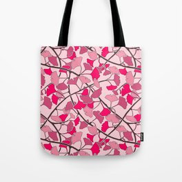 Ginkgo Leaves in Vibrant Hot Pink Tones Tote Bag