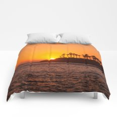 Laguna Beach Sunset Comforters