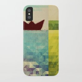 red boat iPhone Case