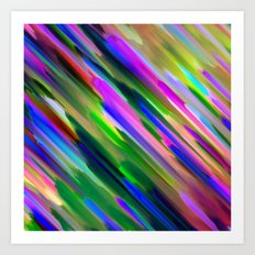 Colorful digital art splashing G487 Art Print