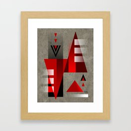 SUMMIT   red Framed Art Print