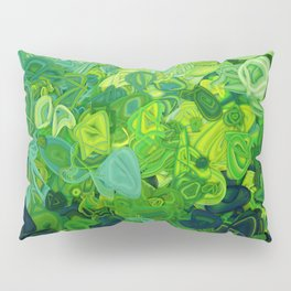 Composition #82 (shades of green) Pillow Sham