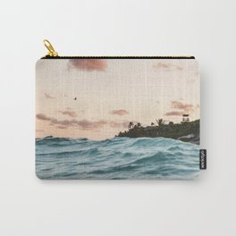 Waves at the sunset Carry-All Pouch