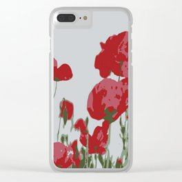 Poppy Field Of Remembrance Vector Clear iPhone Case