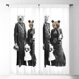 Bear Family Portrait Blackout Curtain