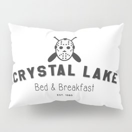 Crystal Lake Bed and Breakfast, Former Camp Crystal, Est.1980, Design for Wall Art, Posters, Tshirts, Men, Women, Kids Pillow Sham