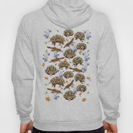 monotremes and wildflowers on apricot Hoody