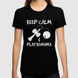 Keep Calm And Play Kendama print T-shirt