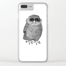 Owl Nr.3 Clear iPhone Case