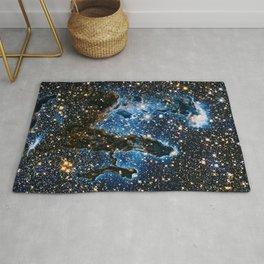 Pillars Of Creation Nebula, Galaxy Background, Universe Large Print, Space Wall Art Decor Rug