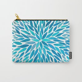 Firework Leaves : Blue Carry-All Pouch