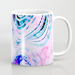 Colorful Fun and Vibrant Marble Summer Pattern Coffee Mug