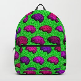 Brains And Leopard Print Backpack
