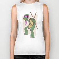 ninja turtle Biker Tanks featuring Teenage Mutant Ninja Turtle by Deoz World