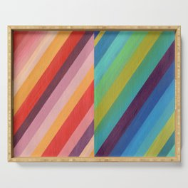 Stripey Hues Serving Tray