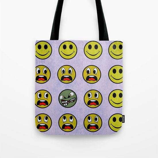 Attack of the Zombie smiley! Tote Bag