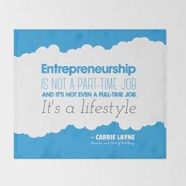 Entrepreneurship Quote Throw Blanket